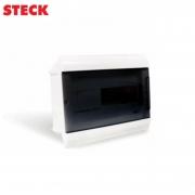 Centrinho Steck de Embutir para 12 Disjuntores DIN Ouro Box Porta Fumê
