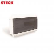 Centrinho Steck de Embutir para 16 Disjuntores DIN  Ouro Box Porta Fumê