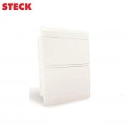 Centrinho Steck de Embutir para 24 Disjuntores DIN Ouro Box Porta Branca