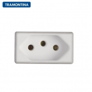 KIT 15 Módulos Tomada 2P+T  Tramontina  10A  250V   57115/030  Branco