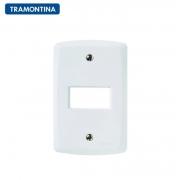 KIT 10 Placas 1 Posto Horizontal Tramontina 4x2 Lux²  57105/004 Branca