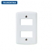 KIT 10 Placas 2 Postos Afastados  Tramontina  4x2  Lux²  57105/006  Branca
