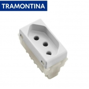 KIT 15 Módulos Tomada 2P+T Tramontina  20A  250V  57115/032  Branco