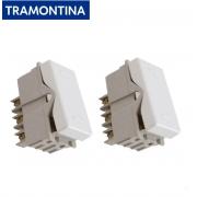 Kit 2 Módulos Interruptor Paralelo Branco Tramontina