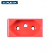 Módulo Tomada 2P+T  Tramontina  20A  250V  57115/033  Vermelho