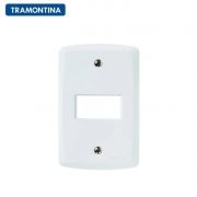 Placa 1 Posto Horizontal Tramontina 4x2 Lux²  57105/004 Branca