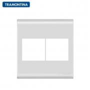 Placa 4 Postos  Tramontina 4x4  Liz  57106/026  Branca