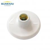 Plafon Blumenau PVC Plafonier E27 Soquete Porcelana Branco