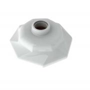 Plafonier Spiralle  Plafon Octagonal Soquete E27 Bocal Porcelana