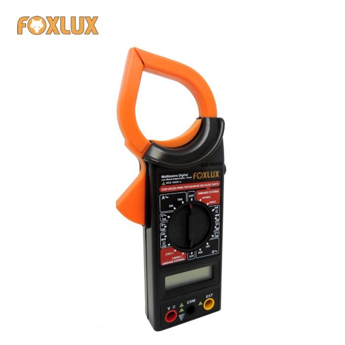 Alicate Amperímetro Digital Com Multímetro Foxlux FX-AA