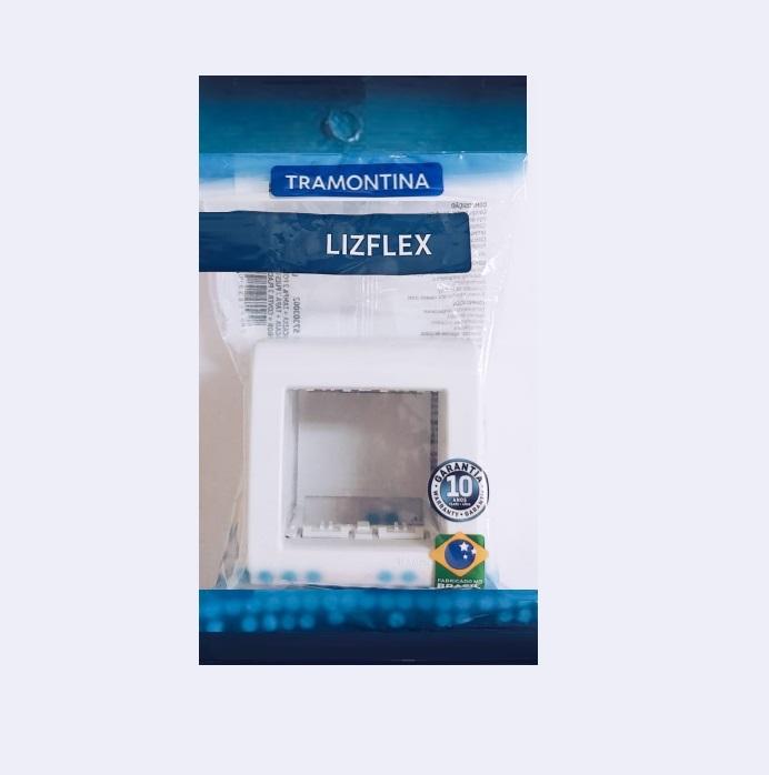 Caixa de Sobrepor 2 Postos Tramontina Com Tampa LizFlex 57303/002 Branca