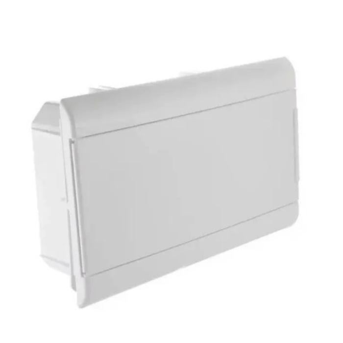 Centrinho Distribuição Steck de Embutir para 12 Disjuntores DIN Ouro Box Porta Branca