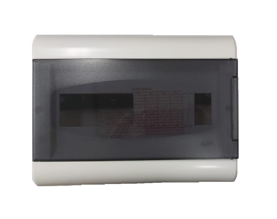 Centrinho Distribuição Steck de Embutir para 16 Disjuntores DIN  Ouro Box Porta Fumê