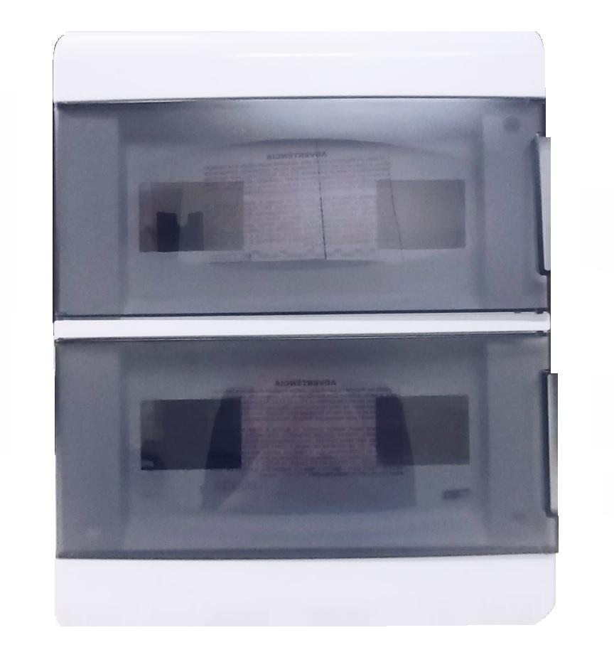 Centrinho Distribuição Steck de Embutir para 24 Disjuntores DIN Ouro Box Porta Fumê