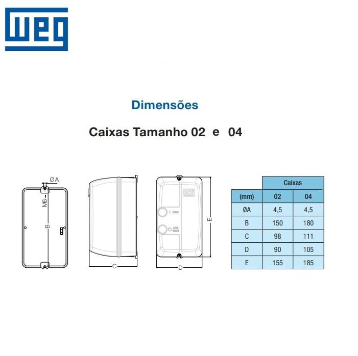 Chave De Partida Direta Weg Trifásica 220V PDW04-7,5V25