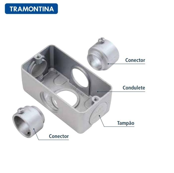 "Conector Tramontina 56251/053 Para Condulete Múltiplo 1"""