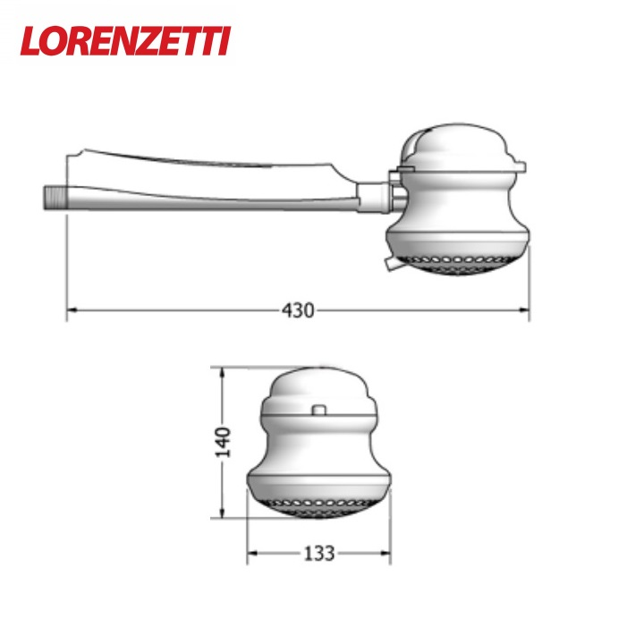 Ducha Lorenzetti Loren Bello 5500W 220V com Cano