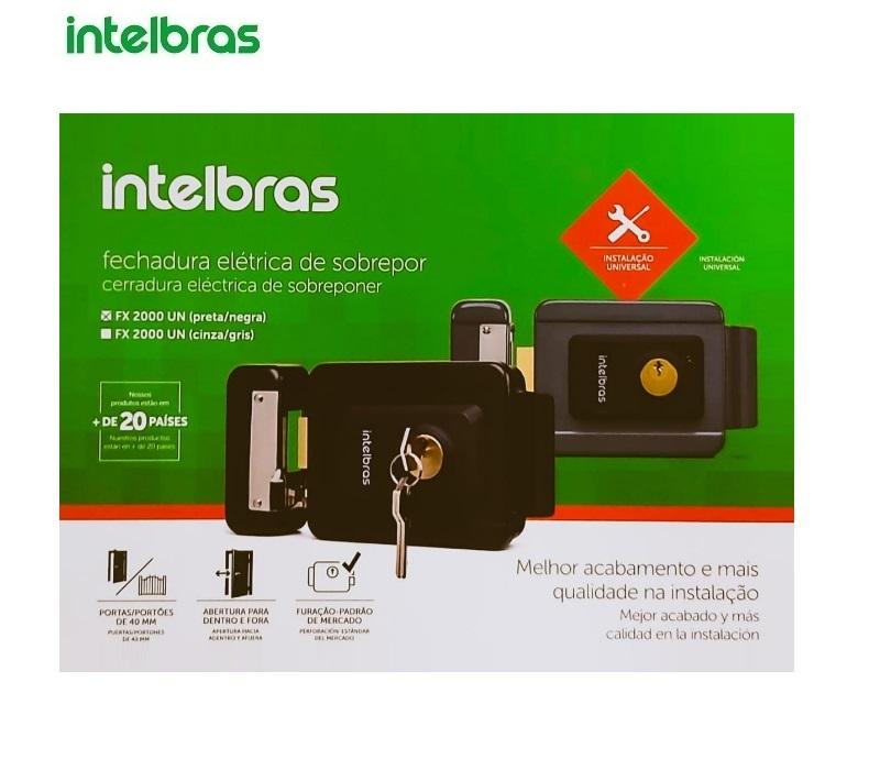 Fechadura Elétrica de Sobrepor Universal Intelbras FX 2000 UN