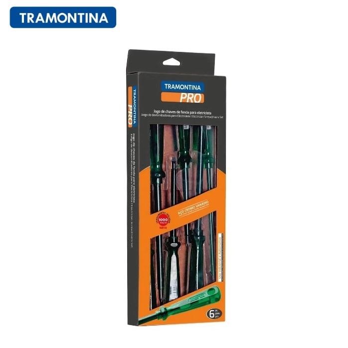 Jogo de Chaves de Fenda para Eletricista Tramontina PRO 6 Peças  44115/406