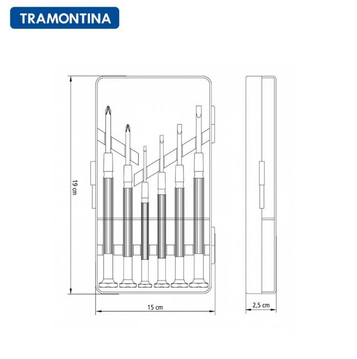 Jogo de Chaves de Precisão Tramontina 6 Peças 41905/306