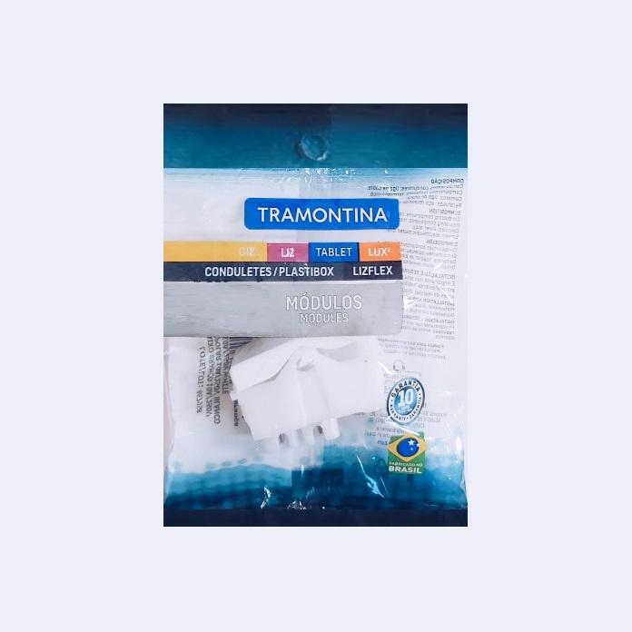 KIT 15 Módulos Interruptor Simples Tramontina  10A  250V  57115/010  Branco