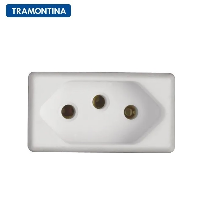 KIT 10 Módulos Tomada 2P+T Tramontina  20A  250V  57115/032  Branco