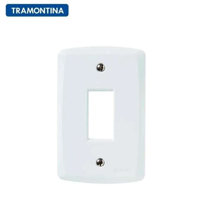 KIT 10 Placas 1 Posto Vertical  Tramontina 4x2  Lux²  57105/003 Branca