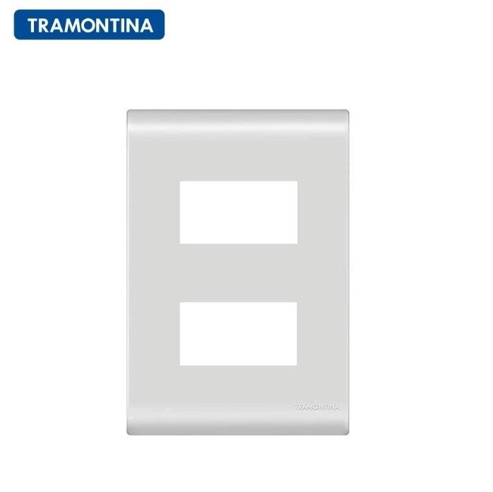 KIT 10 Placas 2 Postos Afastados  Tramontina  4x2  Liz  57106/006 Branca