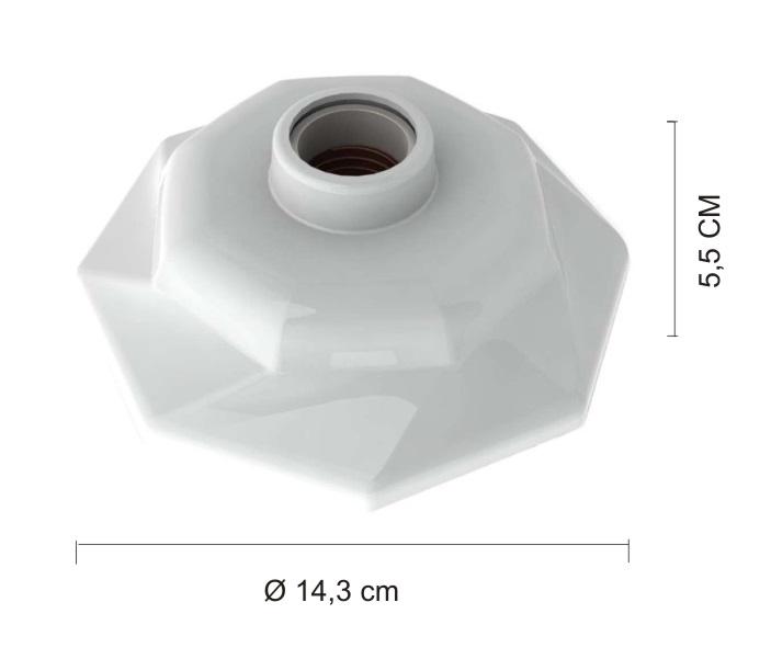 KIT 10 Plafonier Spiralle  Plafon Octa Soquete E27 Bocal Porcelana