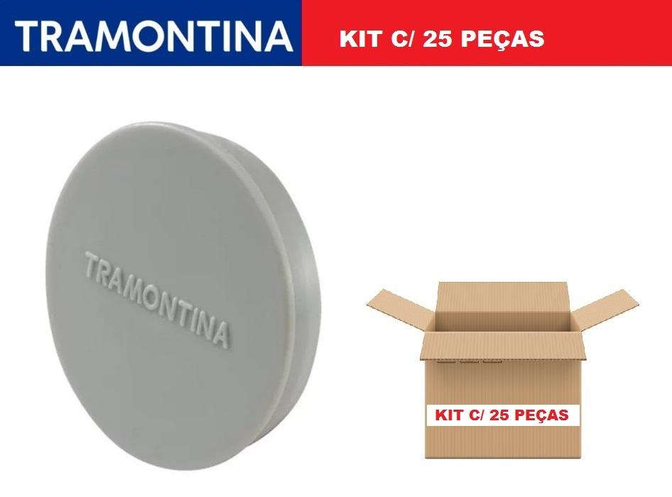 "Kit 25 Tampão Para Condulete Múltiplo 3/4"" Tramontina 56114/052"