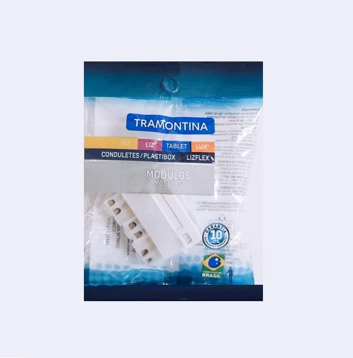 KIT 30 Módulos Tomada 2P+T  Tramontina  10A  250V   57115/030  Branco