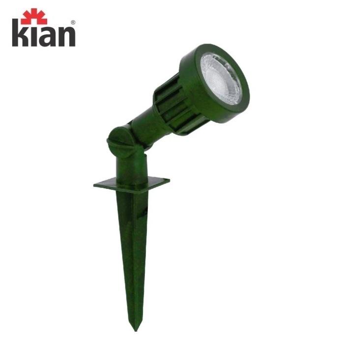 KIT 3 Luminárias Espeto Jardim Kian Led  5W Luz Verde