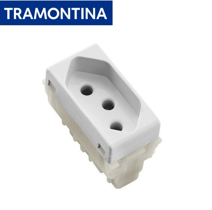 KIT 3 Módulos Tomada 2P+T Tramontina  20A  250V  57115/032  Branco