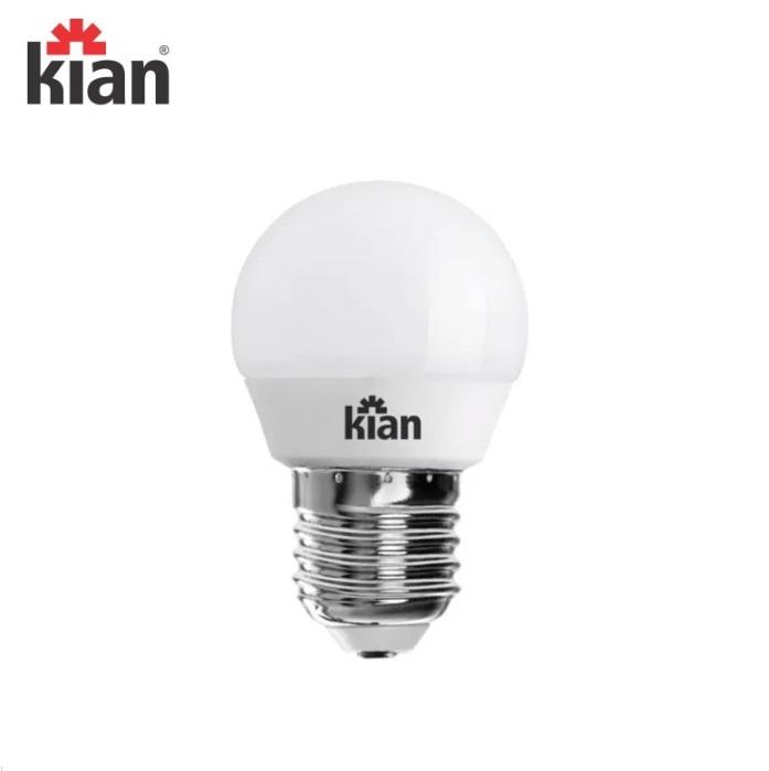 KIT 5 Lâmpadas  Led  Kian Bolinha  4,8W 6500K E27 Branca Fria