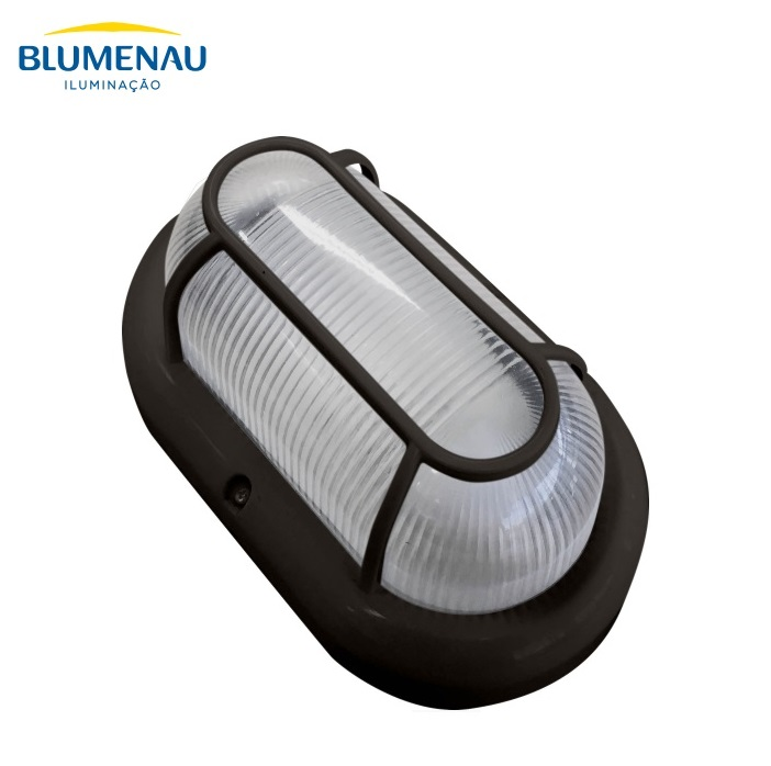 KIT 5 Luminárias Tartaruga Blumenau Clean E27 Preta Sem Lâmpada