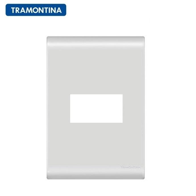 KIT 5 Placas 1 Posto Horizontal 4X2 Branca Tramontina Liz