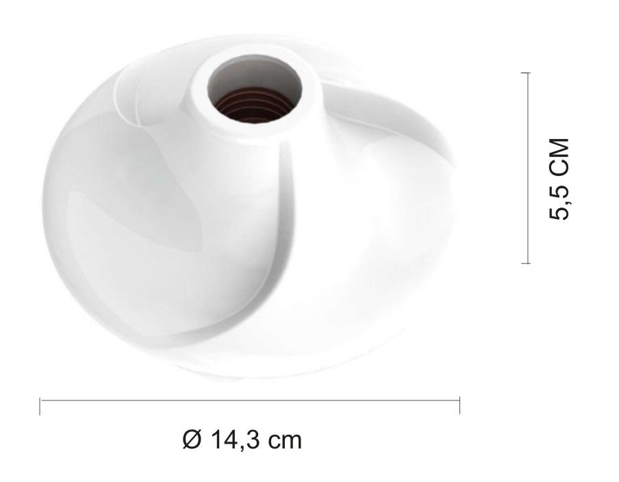 Kit 5 Plafonier Spiralle  Plafon Circle Soquete E27 Bocal Porcelana
