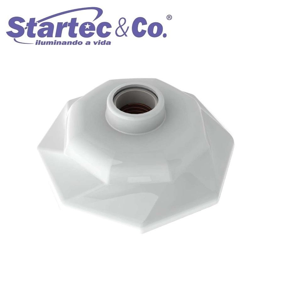 KIT 5 Plafonier Spiralle  Plafon Octa Soquete E27 Bocal Porcelana