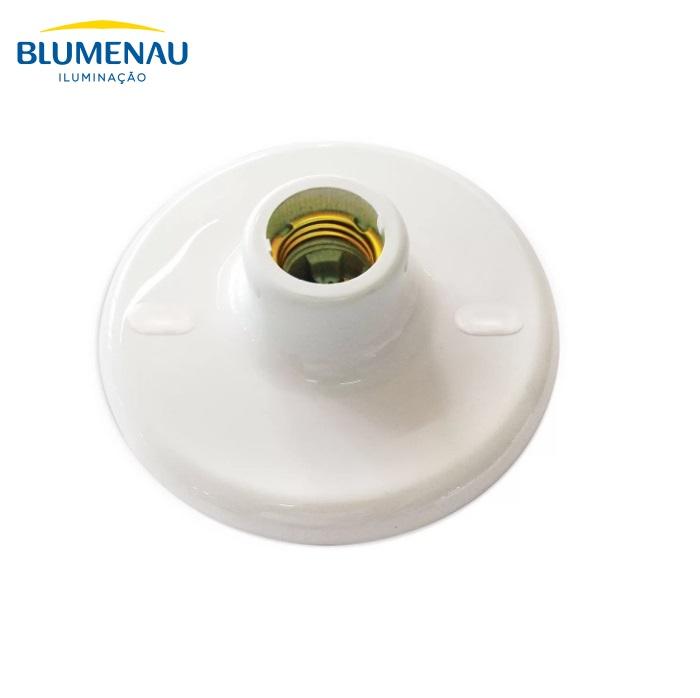 KIT 5 UNID PLAFON PVC E27 PORCELANA BRANCO BLUMENAU