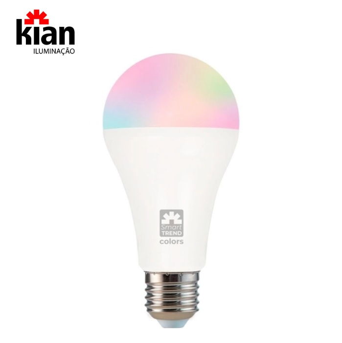 Lâmpada Led Kian Smart Trend Wi-Fi Colors RGB 11W