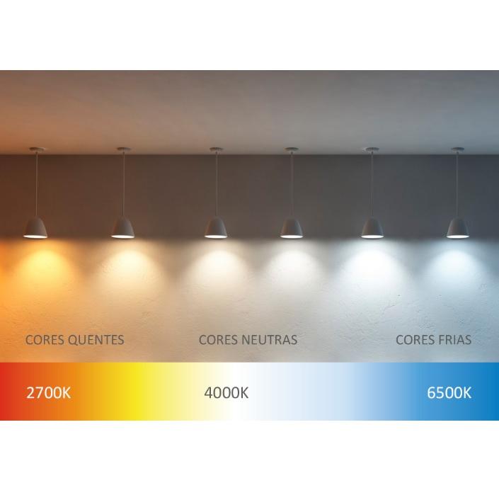 Luminária Led Slim Kian Quadrada de Embutir 18W 6000K  Bivolt