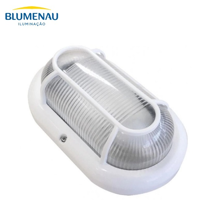 Luminária Tartaruga Blumenau Clean E27 Branca Sem Lâmpada