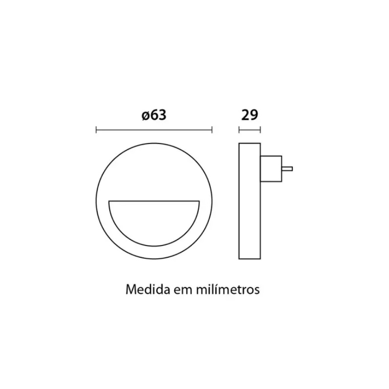 Luz Noturna Led Tomada Com Sensor de Luminosidade 3000K Redondo
