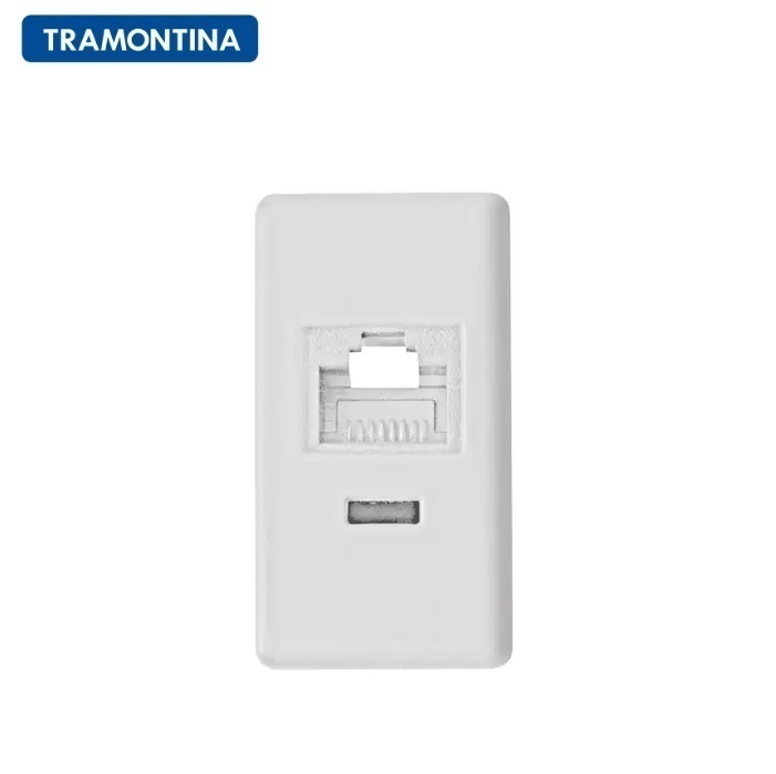 Módulo para Tomada de Telefone RJ 11 Tramontina 57115/051 Branco
