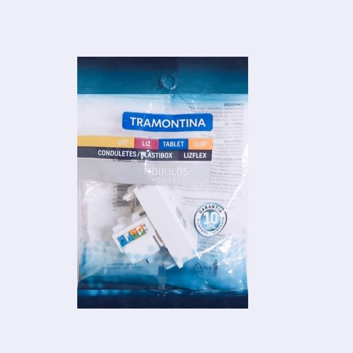 Módulo Tomada de Transmissão de Dados Tramontina RJ 45 Cat5/Cat 6  57115/056 Branco