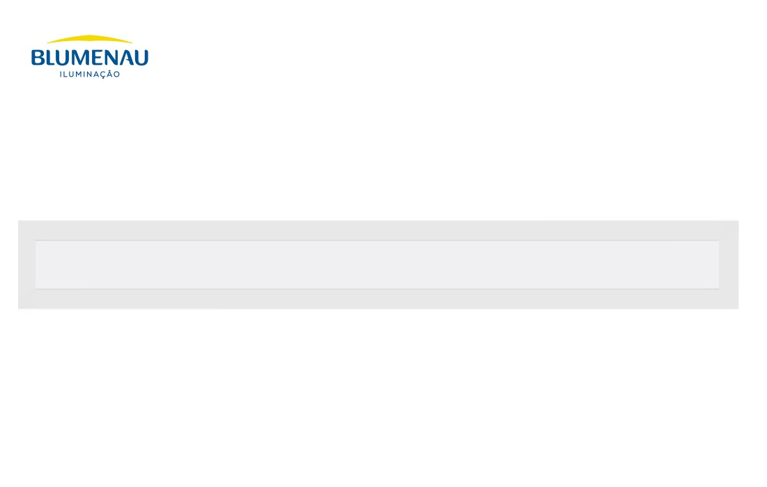 Painel  Led  Slim Blumenau Embutir Retangular 36W  6500K  BIVOLT 80586004