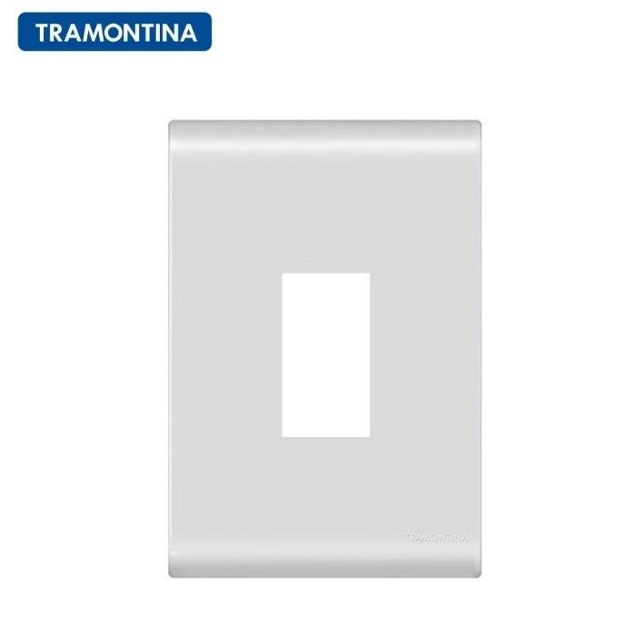 Placa 1 Posto Vertical  Tramontina 4x2  Liz  57106/003 Branca