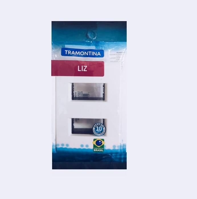Placa 2 Postos Afastados  Tramontina  4x2  Liz  57106/006 Branca