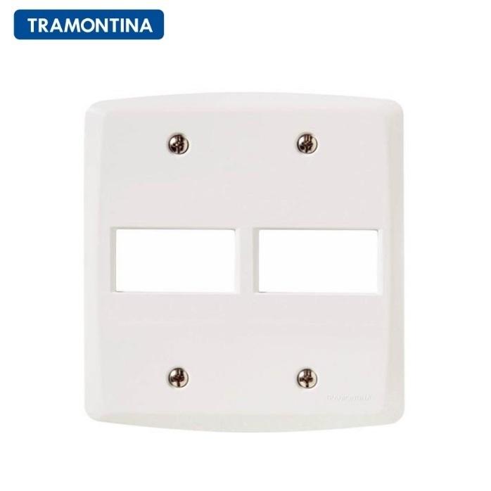 Placa 2 Postos Horizontal Tramontina 4x4  Lux²  57105/023 Branca