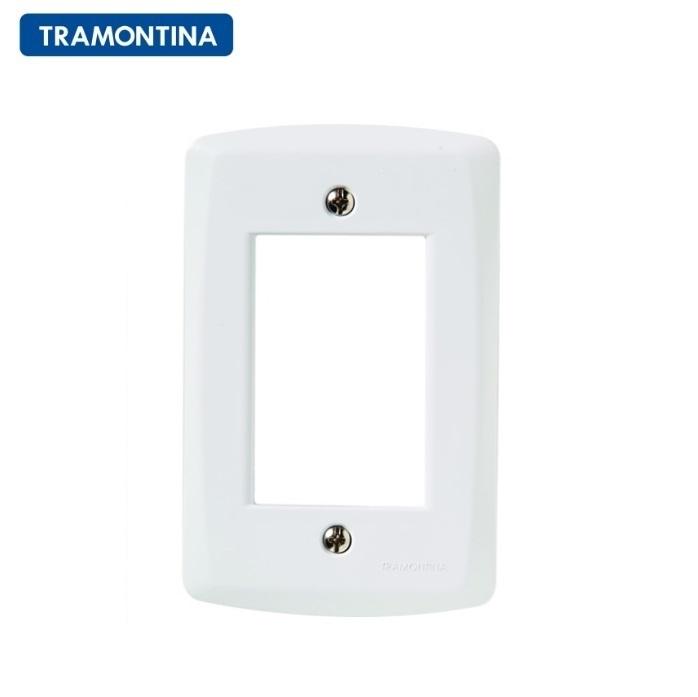 Placa 3 Postos Tramontina 4X2 Lux² 57105/007 Branca
